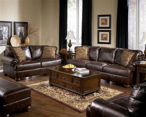 buy axiom walnut living room set by signature design from