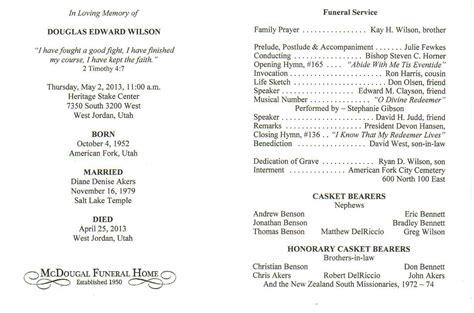 catholic funeral mass program template funeral service program template