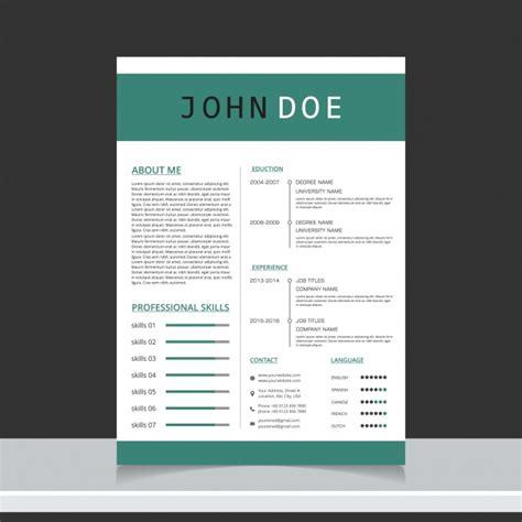 curriculum template design vector free download