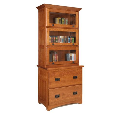 wood bookcase and filing cabinet amish made furniture