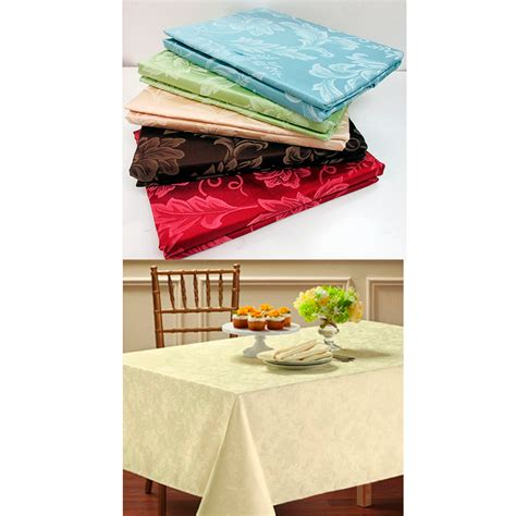 dining room tablecloth 1 damask tablecloth 60 quot x 84 quot oblong polyester easy care