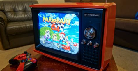 Tv Gaming this portable tv is actually a raspberry pi powered retro gaming system