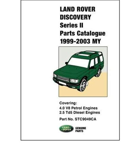free download parts manuals 2003 land rover discovery on board diagnostic system land rover discovery series ii parts catalogue 1999 2003 my sagin workshop car manuals repair