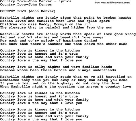 printable lyrics country roads john denver love again john denver lyrics chords