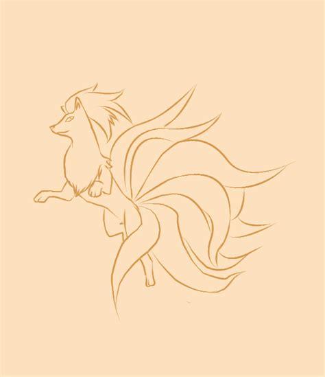 ninetails lines by sulfura on deviantart pokemon line art hot girls wallpaper