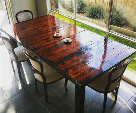 How To Make A Dining Room Table Out Of Pallets by Pallet Dining Table