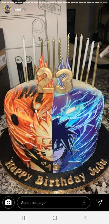 naruto sasuke cake naruto birthday