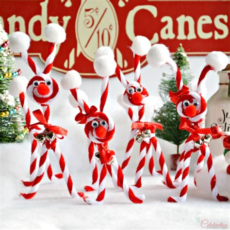 crafts using canes chenille reindeer miss celebration a