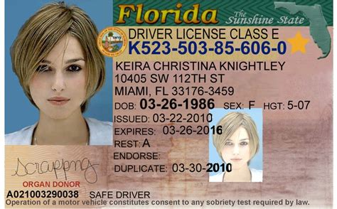 Florida Drivers License Template catholicrutracker