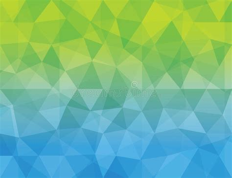 pattern background green blue abstract blue green color polygonal geometric ba stock