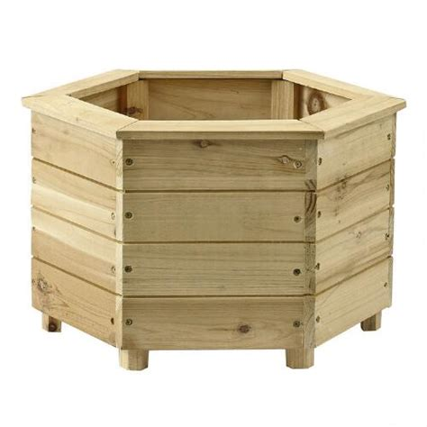 Hexagonal Wooden Planters by 10 25 Hexagonal Cedar Wood Planter Tree Shops