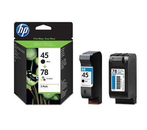 Hp Tinta Printer 78 Tri Colour hp 45 black 78 tri colour ink cartridges multipack deals pc world