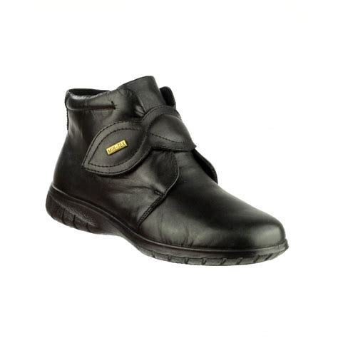 tew black leather waterproof ankle boot