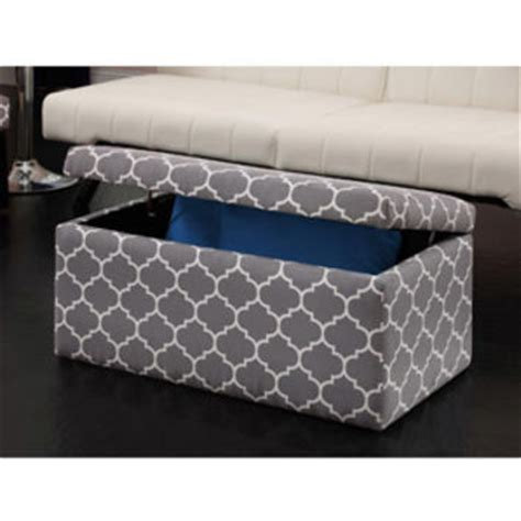 grey patterned ottoman walmart emily rectangular storage from walmart new home