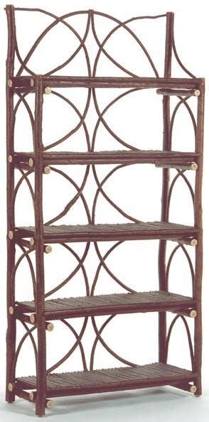etagere willow back etagere with 5 willow shelves the bent tree