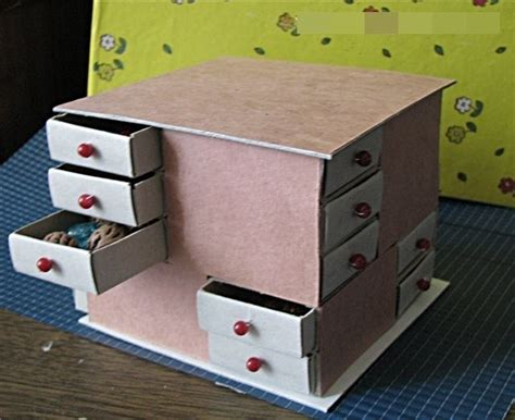 how to diy mini drawer organizer from match boxes www