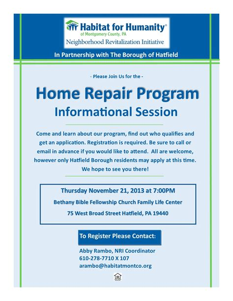 habitat for humanity of montco announces home repair program