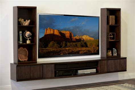 modern wall mounted entertainment center wall mount tv stand curve 5 espresso modern