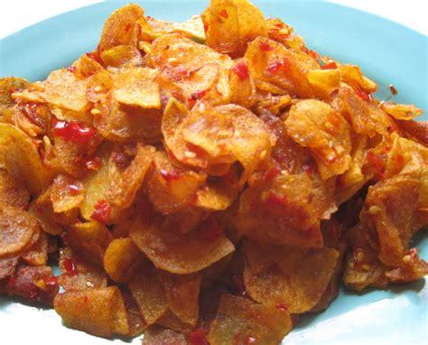 Kripik Cireng Pedas resep keripik kentang pedas manis renyah harian resep