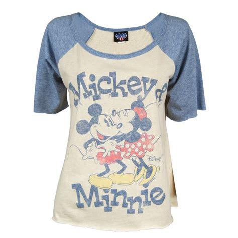 Minnie T Shirts junk food mickey n minnie raglan t shirt blue junk food from honcho sfx uk
