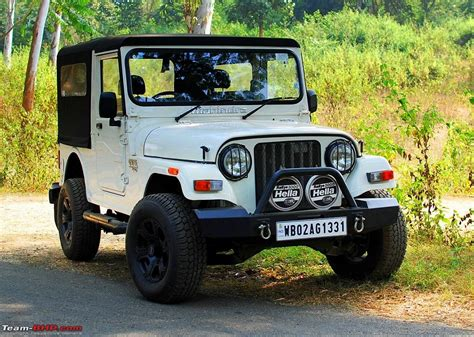 thar jeep white the sherpa my mahindra thar crde 4x4 team bhp