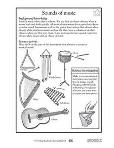 3rd grade 4th grade science worksheets sounds of music