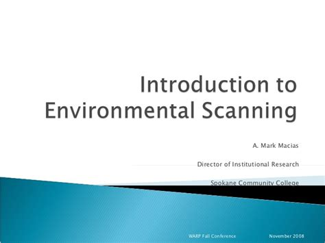 environmental scan template environmental scanning