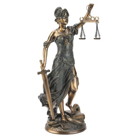 themes goddess of justice 16 quot greek goddess scales of justice bronze finish