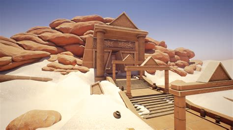sun temple exterior stylized  modular environment  unreal engine tsumea