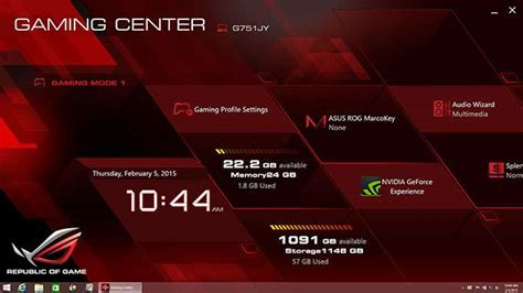 asus g751jy wallpaper install rog gaming center