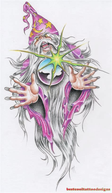 wizard tattoo designs flash best cool tattoo designs