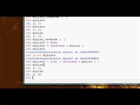 tutorial python list python tutorial 13 list methods 2 part 2 youtube