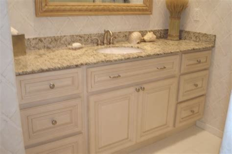 antique white cabinet master bathroom