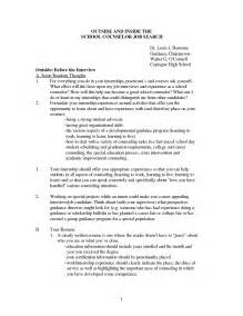 school counselor cover letter school counselor cover letter exles cover letter