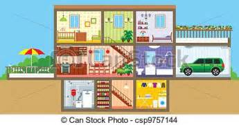 Lighthouse Floor Plans Eps Vector Of House In A Cut Vector Illustration Color