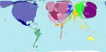 new world population cartogram nat geo education