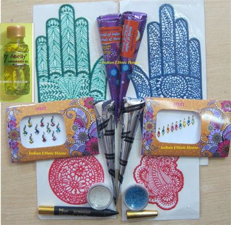where can i buy henna tattoo kits henna cones kit 4 black 4 brown applicator