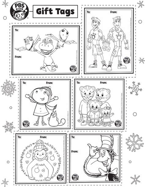 coloring page christmas tags pbs kids gift tags happy holidays pbs parents pbs