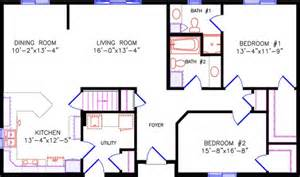28x48 2 bed bath floor plans trend home design and decor two bedroom two bathroom house plans joy studio design