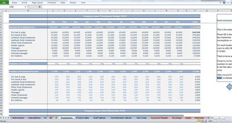 sales department budget template salon budget template cfotemplates