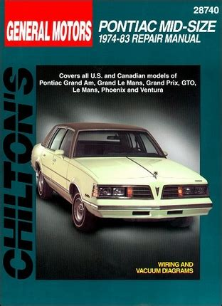 pontiac grandam grand prix gto lemans repair manual 1974 1983