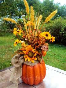 pumpkin bouquet centerpieces autumn fall thanksgiving pumpkin centerpiece table flower arrangement kreativelykrafted