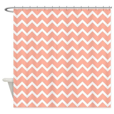 Shower Curtains Coral Colors by Coral Pink Zigzags Shower Curtain By Metarla