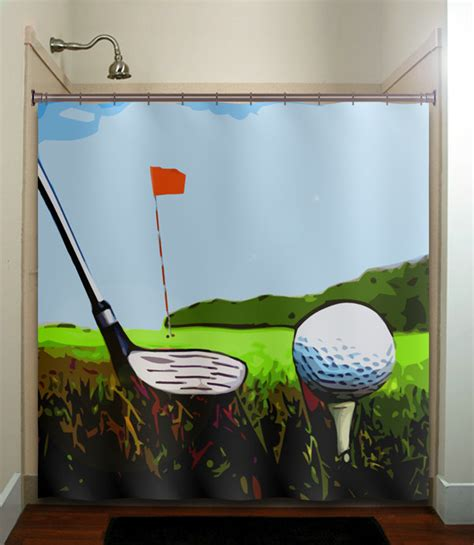 Golf Decor by Golfer Golfing Green Putt Club Golf Bath Mat Rug