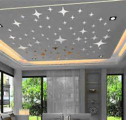 Home Decor Ceiling Ceiling Lovely Stars Planet 3d Mirror Wall Decals Best