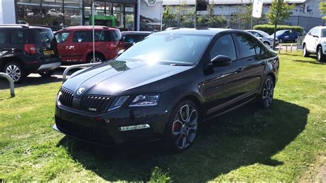 skoda black magic škoda octavia hatch vrs facelift 2017 in black magic with