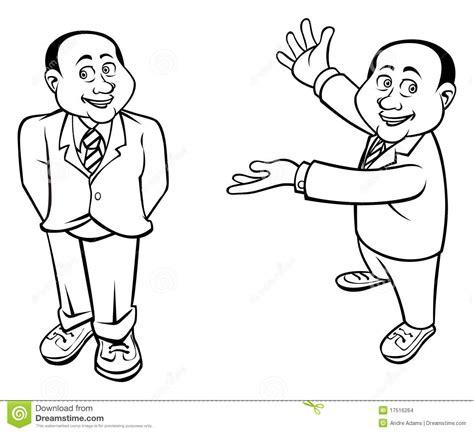 businessman outline stock vector illustration  cartoon