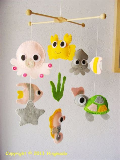 Handmade Nursery Mobiles - the sea mobile baby crib mobile nursery mobile