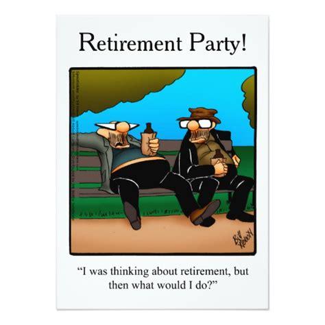 retirement one liner jokes just b cause retirement humor invitations zazzle