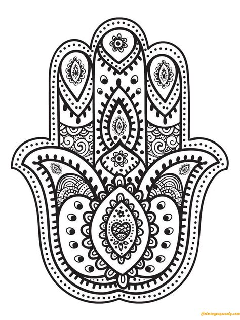 hand  fatima coloring page  coloring pages